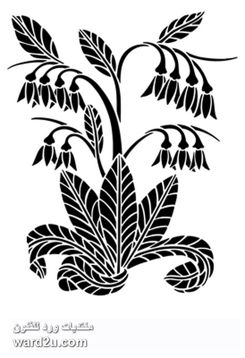تصميمات استنسل نباتية جاهزة للاستخدام