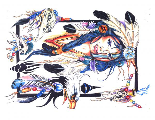 Magick Tattoo Design 7, Fantasy Tattoo Designs
