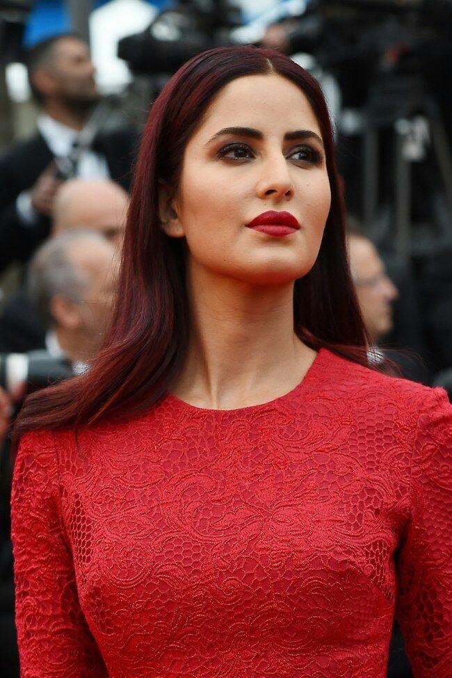 Katrina Kaif Red Dress Wallpaper For Smartphone