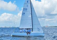 J/70 sailing fast upwind