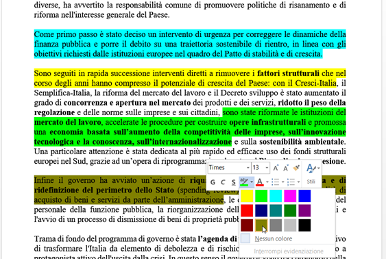 evidenziare-ebook-word