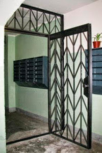 Решетчатые двери на лестничную площадку заказать по размерам проема