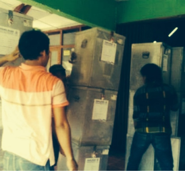 H-2 KPUD Kabupaten Mojokerto Tuntaskan Logistik Pilbup