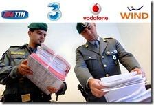 Guardia di Finanza in sedi operatori di telefonia