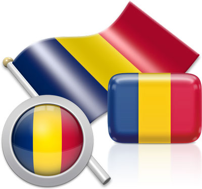 Chadian flag icons pictures collection