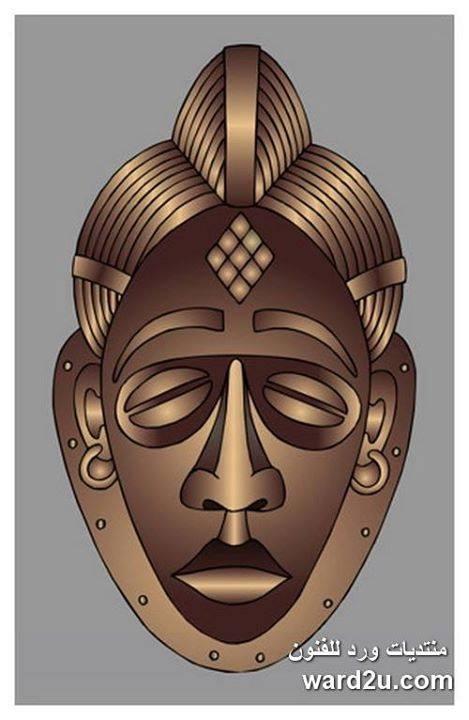 اقنعة بتصاميم افريقية منوعة