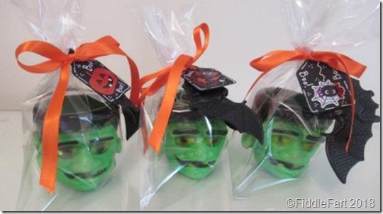 Halloween Frankenstein Favours pots