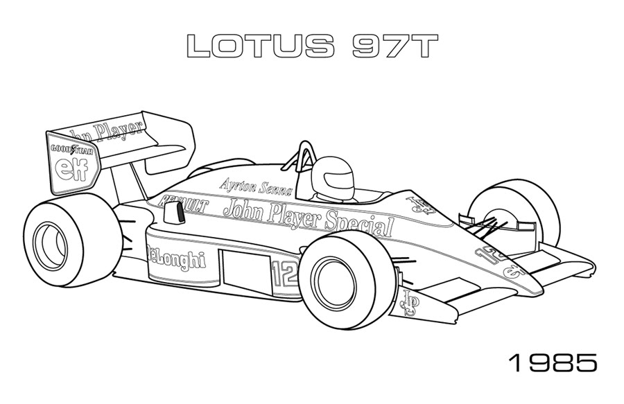 F1 Coloring Pages