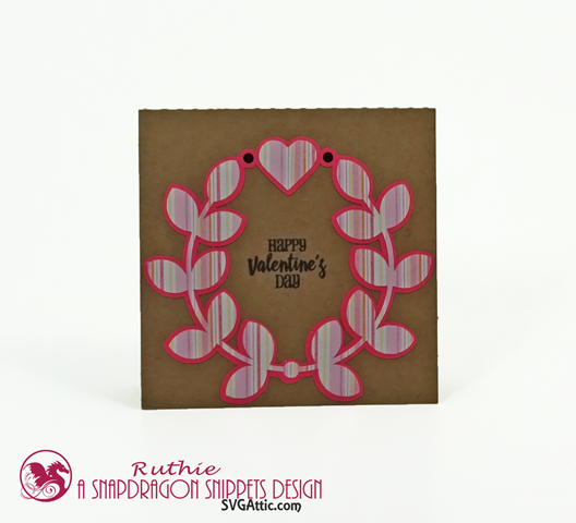 Happy Valentine'sDay, SnapDragon Snippets, Laurel wreath love you card, Ruthie Lopez 4