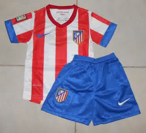 Jual Jersey Bola Anak Atletico Madrid Home 2014