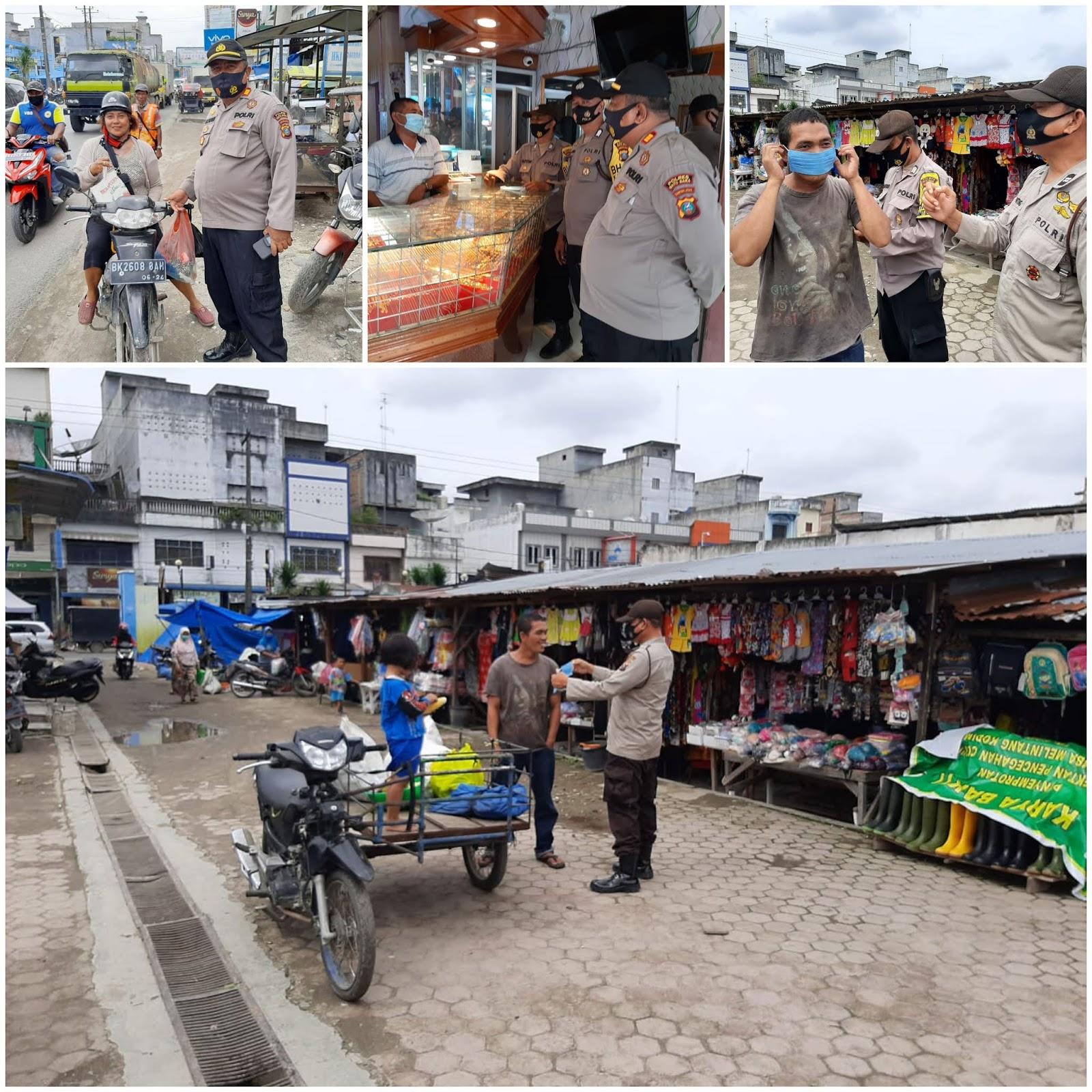 Kasat Binmas Polres Batu Bara Lakukan Ops Yustisi di Pajak Delima Kelurahan Indrapura