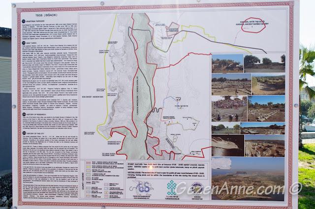 Teos antik kenti tarihçesi ve tanıtımı, Seferihisar