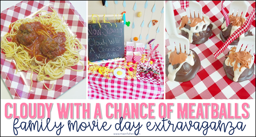Cloudy With A Chance of Meatballs Movie Night
