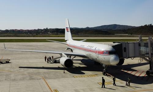 Hinh anh: Mot phi co Air Koryo o thu do Binh Nhuong Trieu Tien Anh eAPe