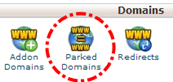 Tombol Parked Domains