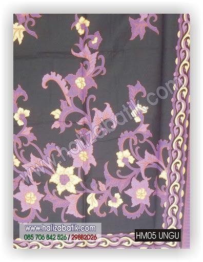 Batik Pekalongan, Contoh Baju Batik, Gambar Batik, HM05 UNGU