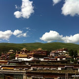 Massive religious gathering and enthronement of Dalai Lama's portrait in Lithang, Tibet. - l46.JPG