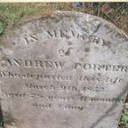 In memory of Andrew Porter who departed this life March 9th, 1853 Ages 79 years, 11 months and 7 days