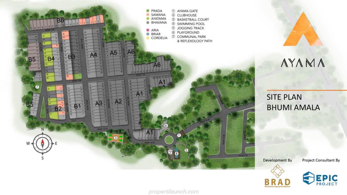 Siteplan Cluster Ayama Bhumi Amala Tangerang