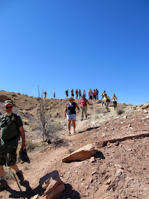 The group hiking into Wild Horse Creek