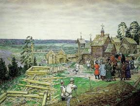 Основание Кремля. Постройка новых стен Кремля Юрием Долгоруким в 1156 году, 1917