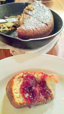 Anson Mills Stoneground White Cornbread with Sorghum Butter and Strawberry Spruce Tip Jam