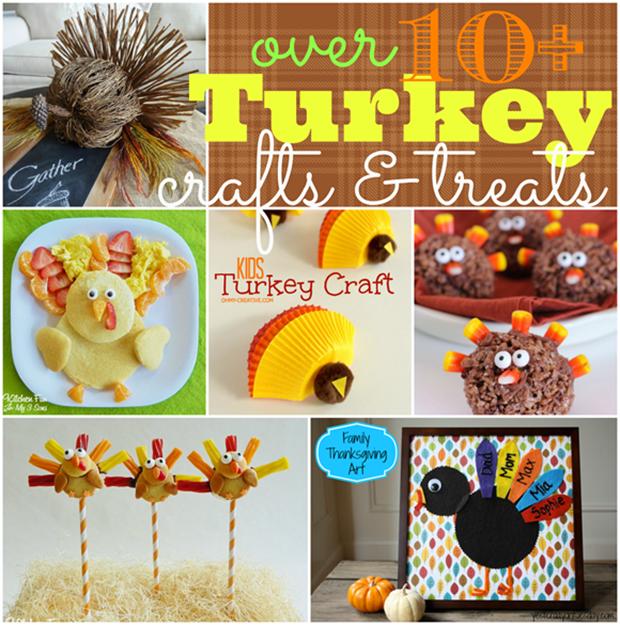 Over Ten Turkey Crafts & Treats #gingersnapcrafts #features #turkey #thanksgiving_thumb[3]