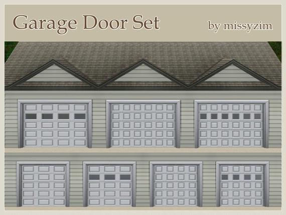 My sims 3 blog missyzim 39 s garage door set for Sims 4 garage
