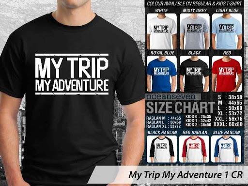Kaos Wisata Indonesia My Trip My Adventure 1 distro ocean seven