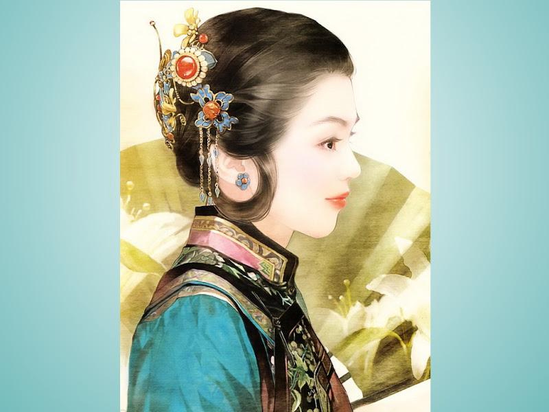 Samurai Girl In Green, Magic Samurai Beauties