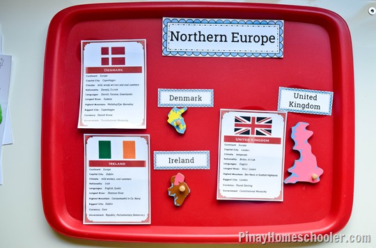 Northern Europe Study: Naming of at least 4 Countries