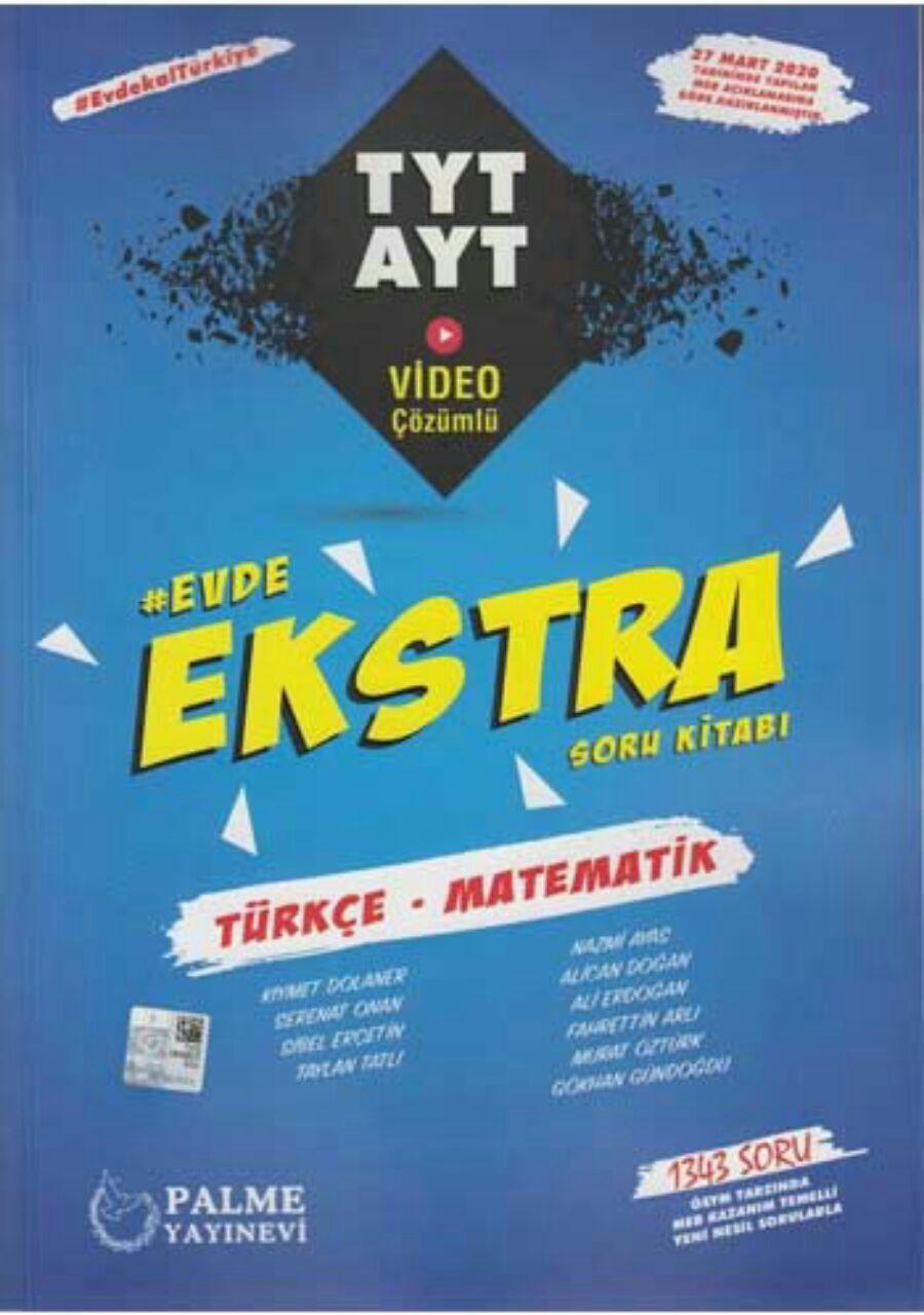 Palme Yayınları Ekstra TYT AYT Türkçe Matematik Soru Kitabı 2020