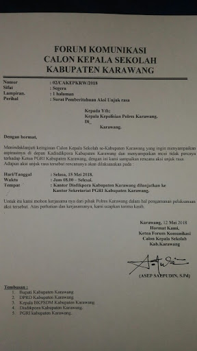 Unjuk Rasa Cakep Se Kabupaten Karawang Bakal Diisi Aksi Bakar KTA PGRI