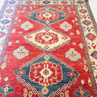 Hand-Knotted Wool Area Rug