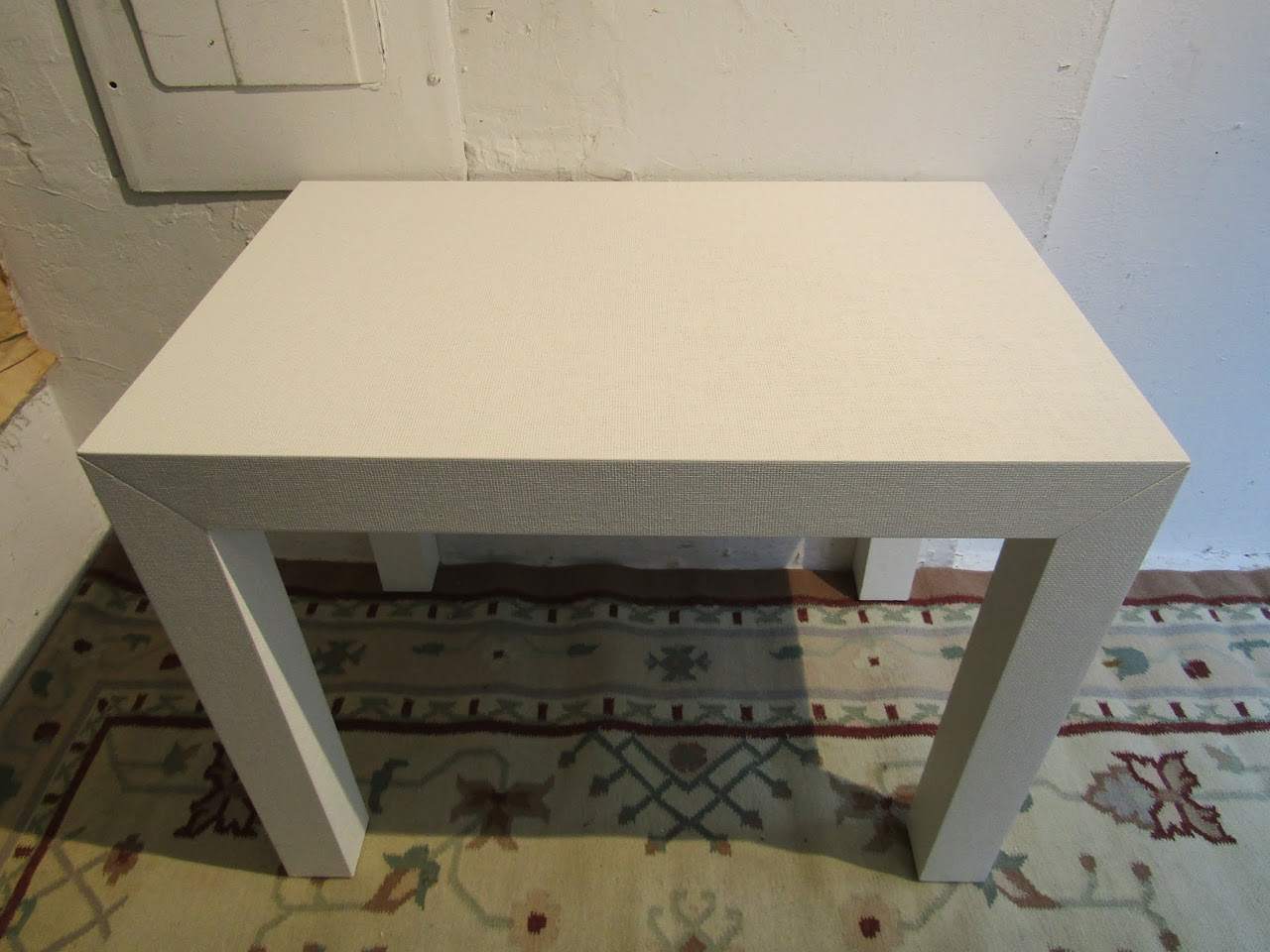 Contemporary Sea Grass Parsons Table