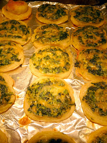 Spinach or Squash Cheese Pinwheels