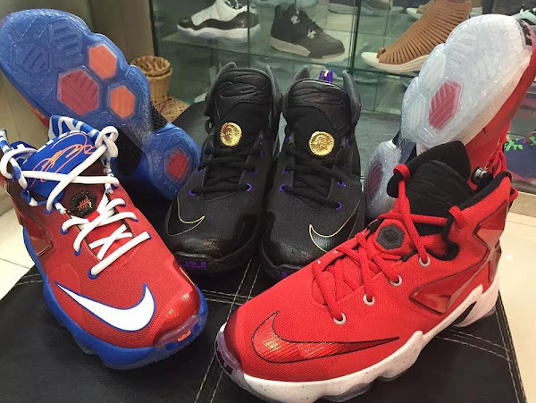 All The Unveiled Kids Nike LeBron 13s Pose Together