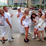 sensation canada troops on the street corner in Toronto, Ontario, Canada