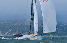 "J/125 Double Trouble- ""hauling the mail""- sailing fast at Rolex Big Boat Series"