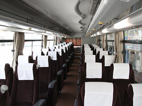 西鉄バス北九州「北九州~大分線」 7611 車内