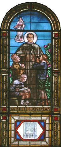 Vetrata del Duomo dedicata a San Giovanni Bosco