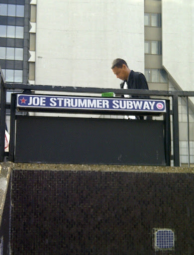 Joe Strummer subway at the Westway