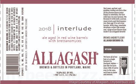 Allagash Interlude Returns For 2018