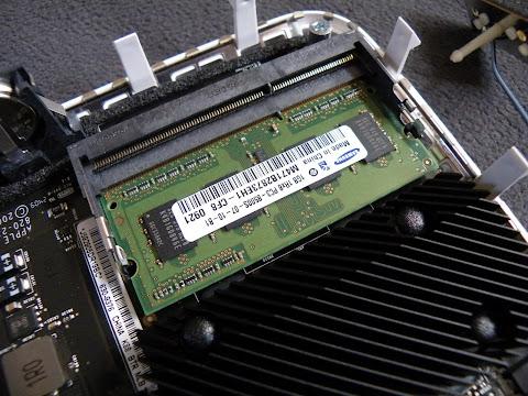 Mac miniのデフォルトメモリはSAMSUNG製だった