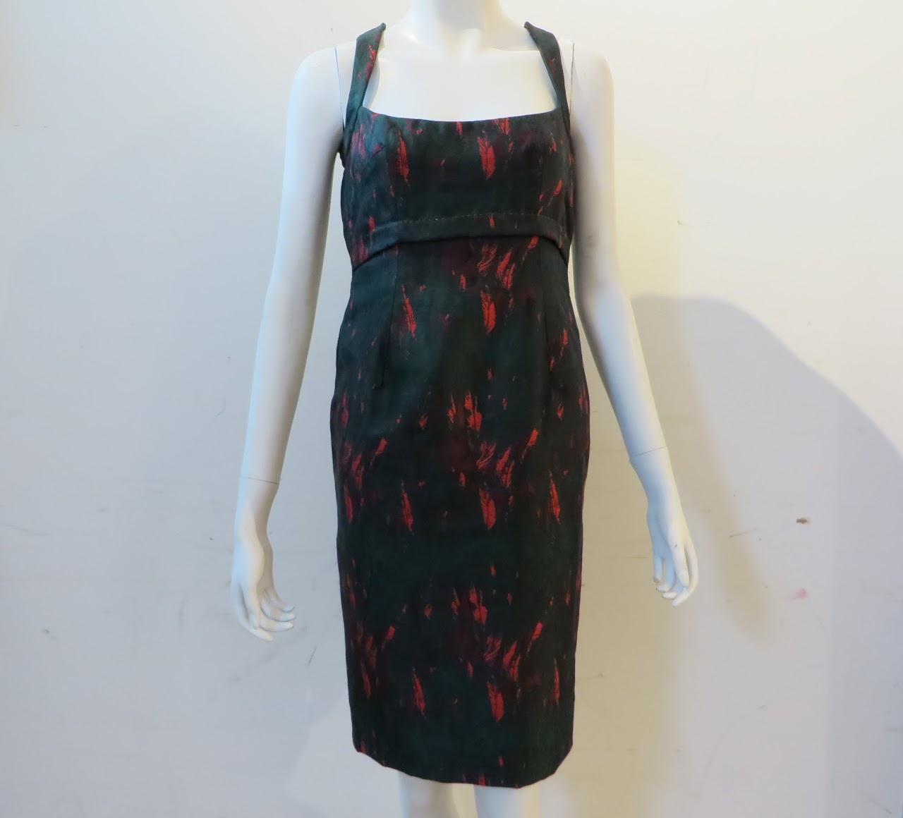 Lauren Scott Feather Print Dress