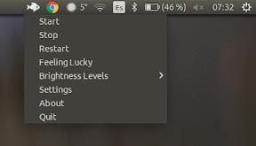 Ajustar el brillo en Ubuntu - menu