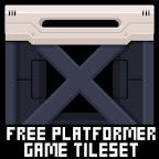 sci fi robot platformer game tileset