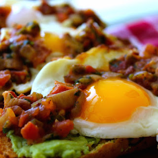 Warm Bacon Salsa Avocado Toast.