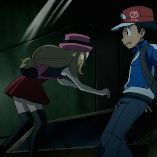 amourshipping serena gropes ash