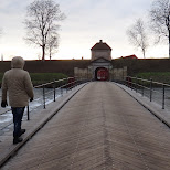 walking towards the fortification in Copenhagen, Copenhagen, Denmark